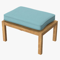 Outdoor Ottoman Square 01