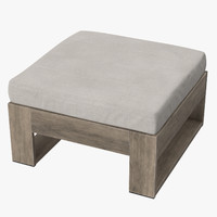 Outdoor Ottoman Square 03