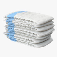 Diapers Stack Blue