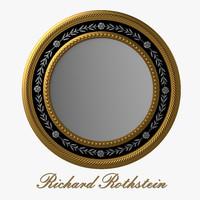 Elegant Silver and Gold Round Mirror