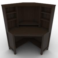 Low-poly corner computer desk