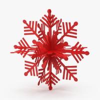 Red Decorative Snowflake
