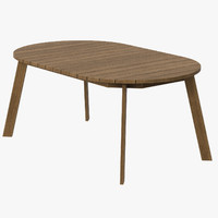 Patio dining table round (seats 6) 02