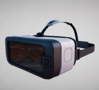 Gear VR headset lowpoly