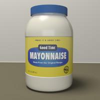 3ds max mayonnaise jar mayo