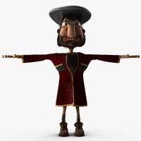 Cartoon Georgian man