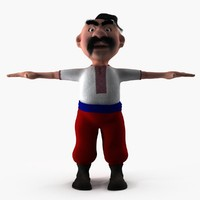Cartoon Ukrainian man