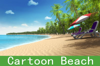 Cartoon beach