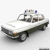 3d model wartburg 353 volkspolizei