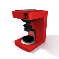 Low Poly coffee machine
