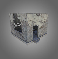 Destroyed Building Low-Poly