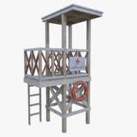 Lifeguard tower one subdiv