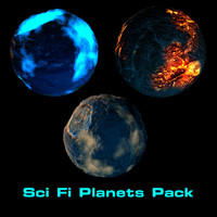 Sci Fi Planets Pack
