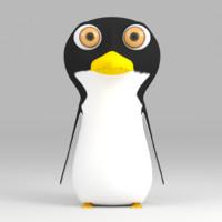 cartoon Penguin rigged