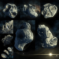 3d asteroids milky-way galaxy