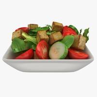 Bowl With Fried Tofu Salad