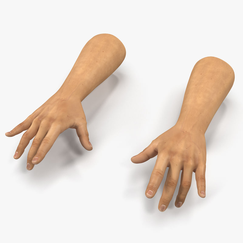Man Hands vray 3d model 00.jpg