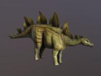 obj stegosaurus