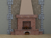 fireplace room 3d 3ds