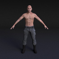 Male Model #1 - Rigged