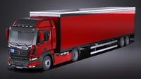 Generic Semi Truck with Trailer 2016