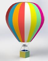 big balloon on a gas burner