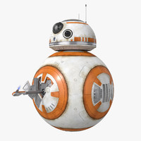 BB-8 Star Wars Droid Rigged