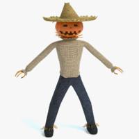 Jack-O-Lantern Scarecrow