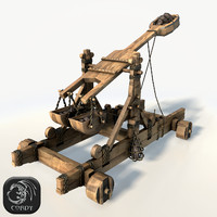 Catapult low poly