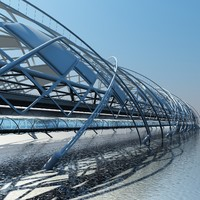 Futuristic Suspension Bridge  2 HD