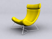 yellow longue chair