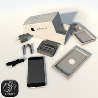 IPhone 7 full package low poly