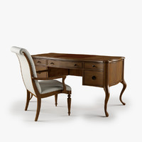 Archivist Writing Desk Upholstered Arm Chair