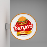 Wall signboard burger