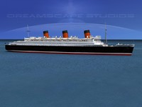 ship queen mary 3d model
