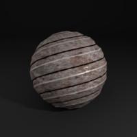 Striped metal textures