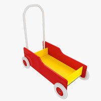 3d kids wagon model