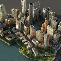Manhattan Lower Part01 Low Poly