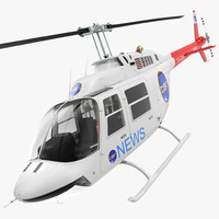 Bell 206B JetRanger III Ten News Rigged