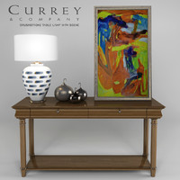 CURREY & COMPANY - Brushstroke Table Lamp With Scene