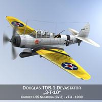 Douglas TDB-1 Devastator - 3T10
