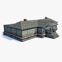 Russian Village House 04 LOD