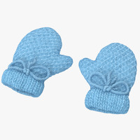 Newborn Mittens 01 Blue