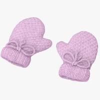 Newborn Mittens 01 Pink