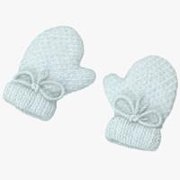 Newborn Mittens 01 White