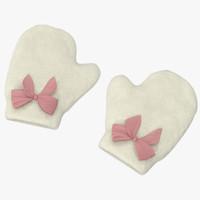 Newborn Mittens 03 Pink