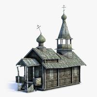 Russian Village Church 02 LOD