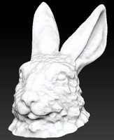 rabbit bunny head bust