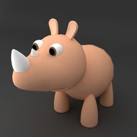 Rino rigged low poly model