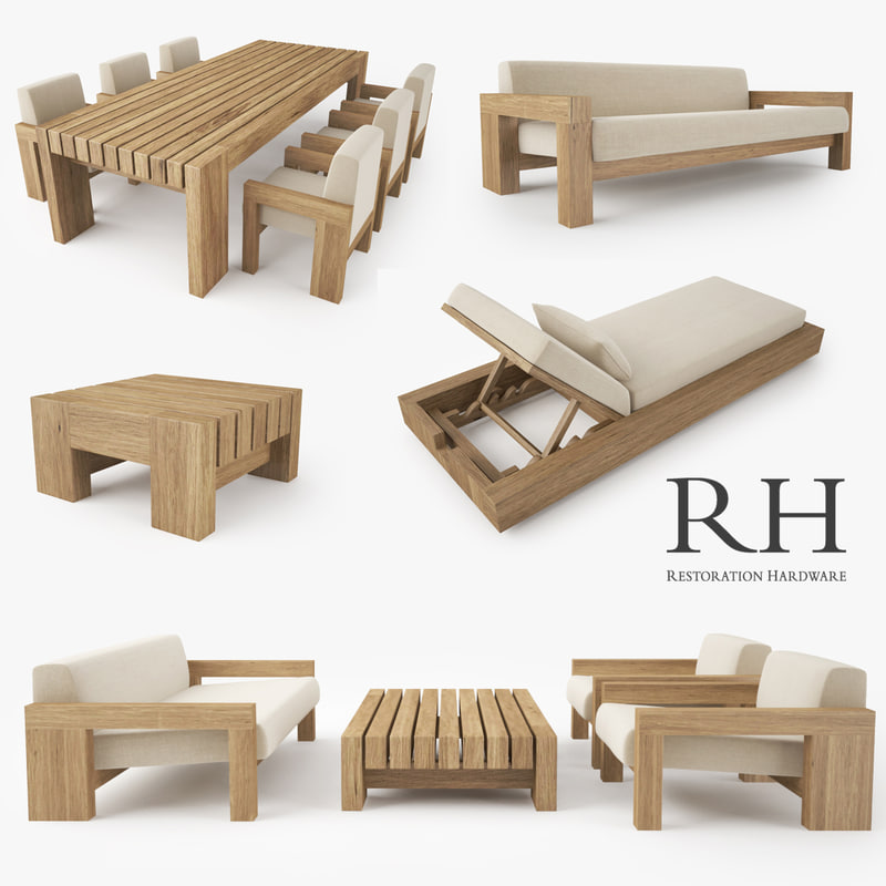 Restoration Hardware Sofa Collection: Restoration Hardware Bardenas Sofa 3d Max
